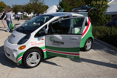 One of three modern electric or hybrid vehicles displayed Ameren.