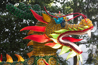 More dragons along the path taken by the Garden Tram