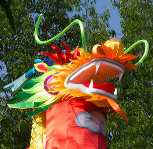 And another view of the same tall dragon