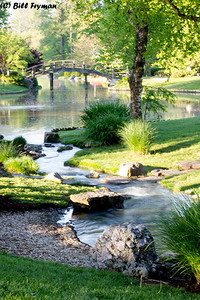 Bridge to sacred island in Japanese Garden