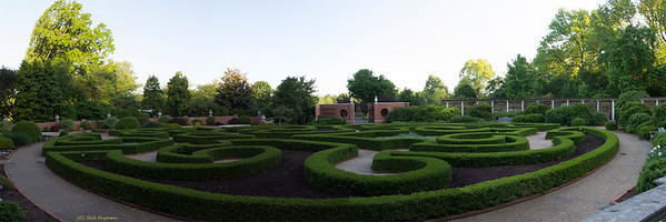 "Boxwood Garden, Original image 16"" X 48"""