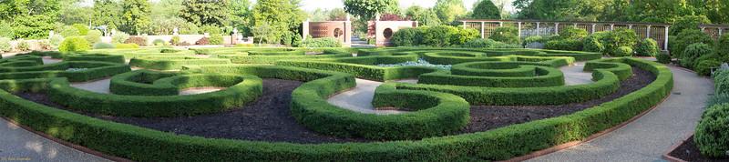 "Boxwood Garden, Original image 16"" X 72"""