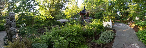 "Chinese Garden, Original image 16"" X 48"""