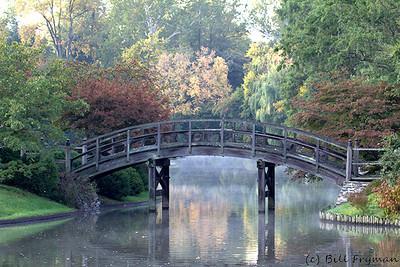 Bridge to the island in the Japanese Garden