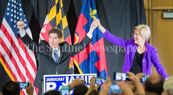 Jamie Raskins with Senator Elizabeth Warren, at Jamie Raskins Democratic Resistance Revival in Silver Spring MD