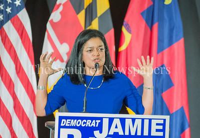 Congresswoman Pramila Jayapal (D-WA-7) at Jamie Raskins Democratic Resistance Revival in Silver Spring MD at Jamie Raskins Democratic Resistance Revival in Silver Spring MD
