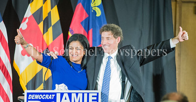 Congresswoman Pramila Jayapal (D-WA-7) and COngressman Jamie Raskins at Jamie Raskins Democratic Resistance Revival in Silver Spring MD