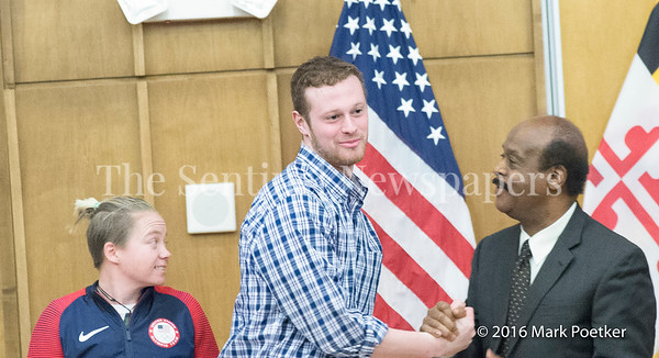 Jack Conger, Rockville Native, Graduate of Our Lady of Good Council, 12 19 2016 Montgomery County Recognizes 4 Olympians from County.