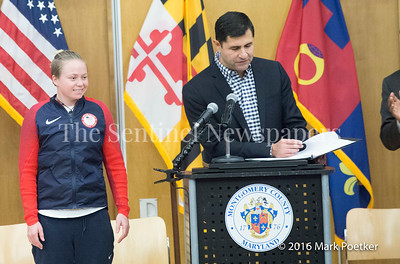 Ashley Nee, Olympian (Whitewater rafting) 12 19 2016 Montgomery County Recognizes 4 Olympians from County.