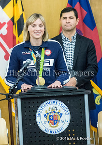 Katie Ladecky, 12 19 2016 Montgomery County Recognizes 4 Olympians from County.
