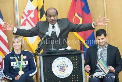 MOntgomery County Executive, Ike Leggett (D), 12 19 2016 Montgomery County Recognizes 4 Olympians from County.