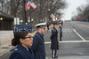 Captain Rosemarie Estives, USAF, lining Constitution AVE at Capitol.