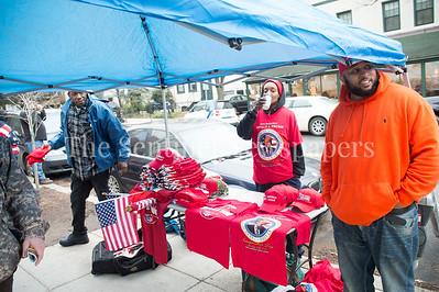 Vendors EVERYWHERE selling inauguration  wears.