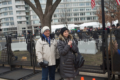 Jeff and Shelly Welch from Houston Texas, attending 1st inauguration .