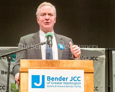 Senator Chris Van Hollen (D-MD), 03 03 2017 JCC Hate Crime Solidarity Event