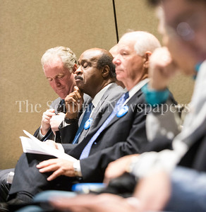 Senator Chris Van Hollen (D-MD), Montgomery County Executive Ike Leggett (D), Senator Ben Cardin (D-MD), 03 03 2017 JCC Hate Crime Solidarity Event