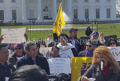 The CASA press conference in front of the White House on March 20, 2017.