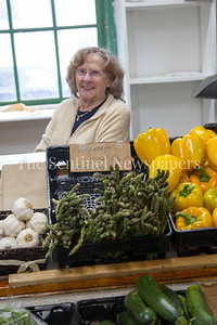 Brook Johnson, President of the Bethesda Women's Market. 04 01 2017 Bethesda Farmers Market opening day