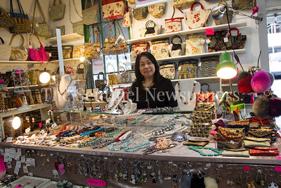 Ivy Wong is a jewelry and hand bag designer. 04 01 2017 Bethesda Farmers Market opening day