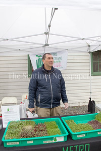 Mark Ross, of Microgreens, 04 01 2017 Bethesda Farmers Market opening day