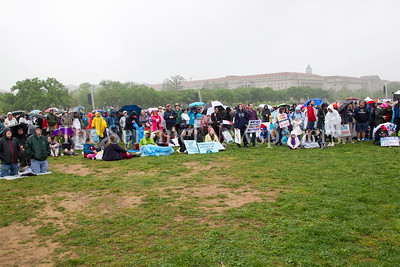 The crowd in front of the stage. 04 22 2017 Science March in DC