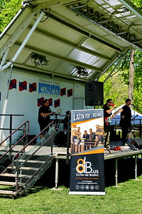 George P. Smith/The Montgomery Sentinel    The Latin Pop/Rock Band Ocho de Bastos performed at the Fifth Annual Montgomery County GreenFest held jointly with Brookside Gardens' Earth Day Celebration on Sunday, April 28, 2019 at Brookside Gardens in Wheaton.