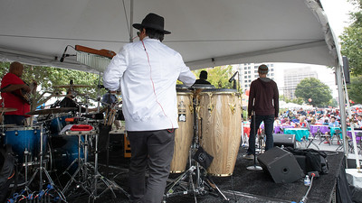 October 5, 2019 - 13 bands played on five stages to  large crowds at the 2019 Taste of Bethesda in the Woodmont Triangle area. Photo by Mike Clark/The Montgomery Sentinel