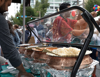 October 5, 2019 - Vendors demonstrate their culinary skills at this year's Taste of Bethesda in the Woodmont Triangle area. Photo by Mike Clark/The Montgomery Sentinel