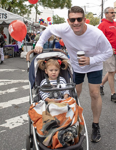 October 5, 2019 - Even the young patrons at this year's Taste of Bethesda enjoyed the food from over 60 Bethesda restraurants, live bands, face painting, and balloons. Photo by Mike Clark/The Montgomery Sentinel