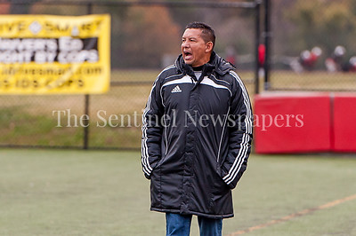 11/1/2016 - Magruder head coach Juan Gomez , ©2016 Jacqui South Photography