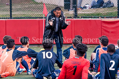 11/1/2016 - Magruder head coach Juan Gomez, ©2016 Jacqui South Photography
