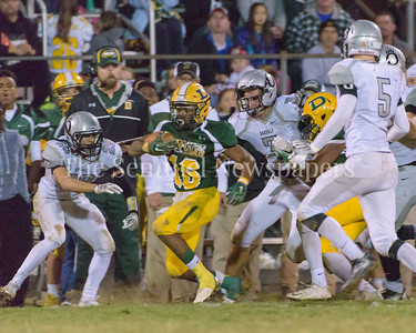 Amid a crowd of Oakdale defense playes Damascus running back Markus Vinson finds a way to thread the needle past the secondary on his way to a first down.