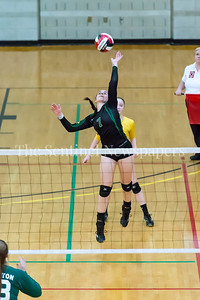 11/20/2016 - Damascus outside hitter Isabel Nelligan (7) during the 3A Championship Volleyball game, ©2016 Jacqui South Photography