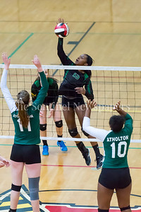 11/20/2016 - Rose Opara (13) slams the ball during the 3A Championship Volleyball game, ©2016 Jacqui South Photography