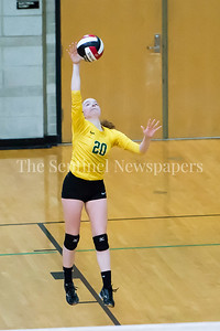 11/20/2016 - Damascus libero Sarah Bowers (20) serves during the 3A Championship Volleyball game, ©2016 Jacqui South Photography