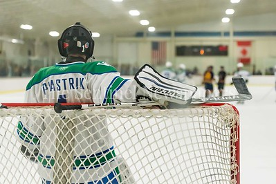December 2, 2016 - It was a bit of a lonely night for Churchill's goalie Alex Plastrik as the Bulldogs dominated the ice against B-CC.