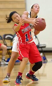 Wootton High School Katie Gillick (11), Northwest AlexisMack (1), 12 06 2016 Opening Girls Basketball game. Northwest High School v Wootton High School.