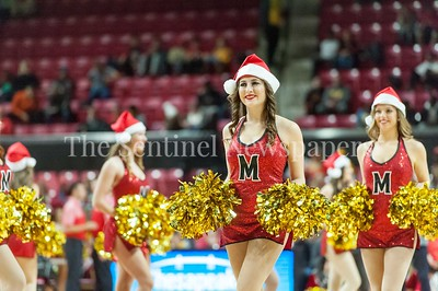 12/10/2016 - University of Maryland dance team in the St. Peter's v University of Maryland Basketball game, ©2016 Jacqui South Photography