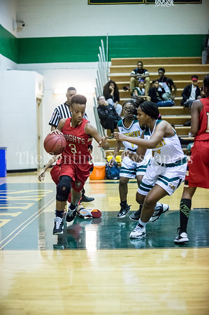 AhmyriaJones(3), MyliahBrown (1), AsiaLewis (10)  12 12 2016 JF Kennedy v Wheaton Girls Varsity Basketball