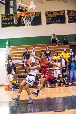 OliviaMiller (3) , AhmyriaJones (3), 12 12 2016 JF Kennedy v Wheaton Girls Varsity Basketball