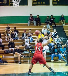 CassieWashington (14), SashaBrandon (2) 12 12 2016 JF Kennedy v Wheaton Girls Varsity Basketball