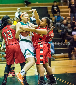 CrystalJones (13),  JordanMelbourne (23), CassieWashington (14), 12 12 2016 JF Kennedy v Wheaton Girls Varsity Basketball