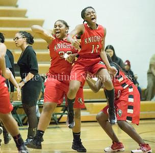 DiemaJordan (32), AuroraMckenzie (11) 12 12 2016 JF Kennedy v Wheaton Girls Varsity Basketball