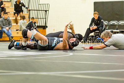 12/15/2016 - Tom Wilmarth (Whitman) v Emanuel Azadze (Northwest0 wrestle 285 lb, ©2016 Jacqui South Photography