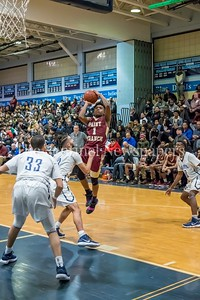 1/5/2018 - Juan Bell (1) shoots a short jump shot for Paint Branch, ©2018 Jacqui South Photography