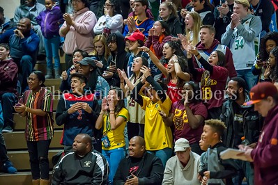 1/5/2018 - The Paint Branch fans cheer on Bobby Miller after a 1st quarter dunk, ©2018 Jacqui South Photography