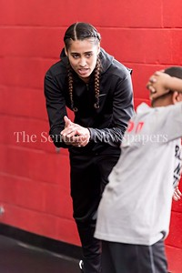 1/7/2017 -Skylar Diggins encourages campers at her camp at the Pat the Roc Academy in Rockville, MD, ©2017 Jacqui South Photography