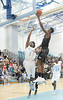 Clarksburg High School guard Stephan Hamilton (1), Northwest High School  jaguars jr. (25 adrian thomas) Adrian Thomas (25)