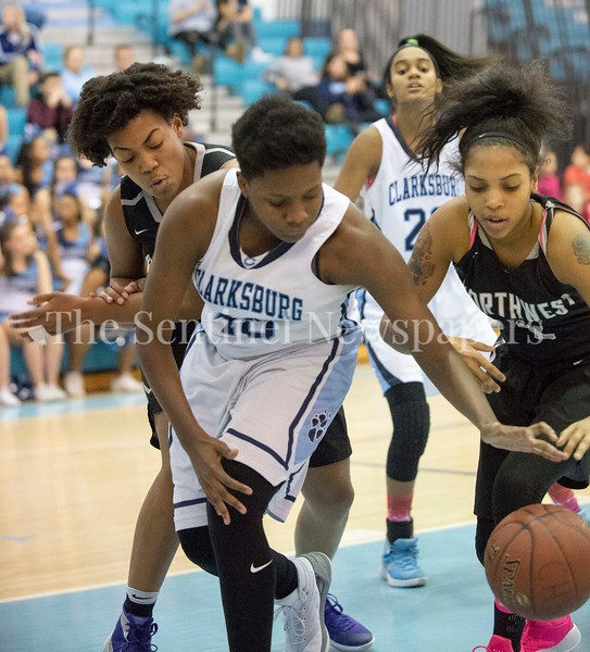 Clarksburg High School Miki Howson (10), Northwest High School Mariah Ellis (2)