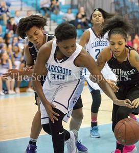 Clarksburg High School Miki Howson (10), Northwest High School Mariah Ellis (2)